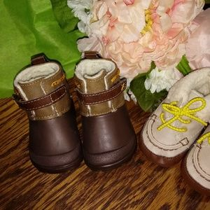 Bundle of Two 0-3 months infant baby shoes